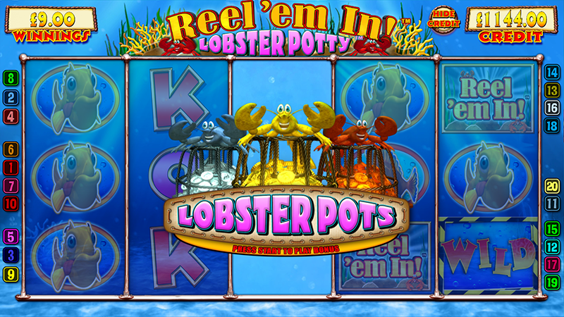Reel em In Lobster Potty Slot - Play it Now for Free