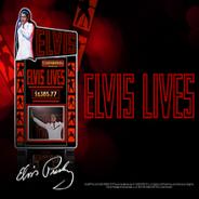Elvis Lives slot logo