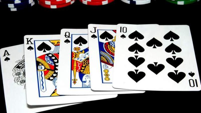 The winning hand in poker