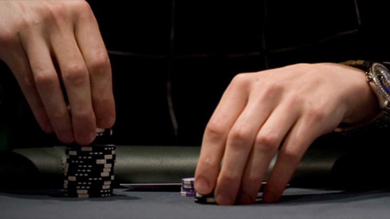 Playing with your poker chips