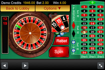 Roulette wheel demo mode