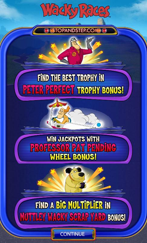 Wacky Races slot bonuses