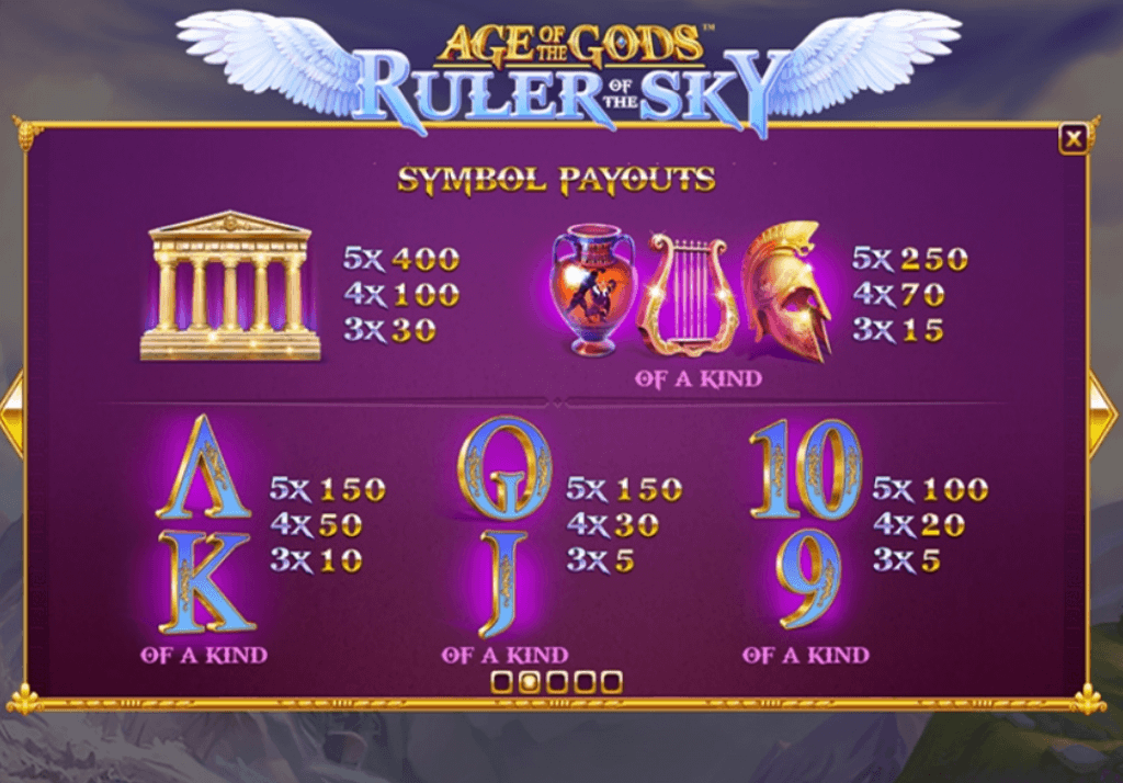 age of the gods ruler of the sky slot rules 2