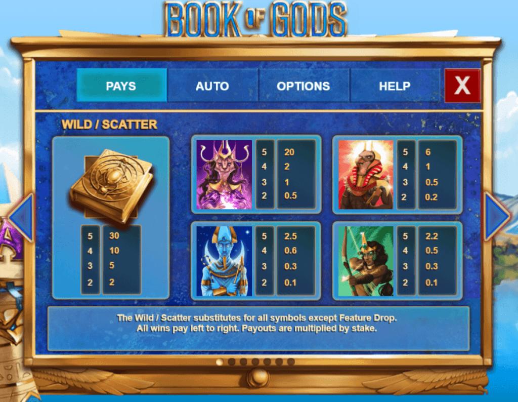 book of gods slot gameplay