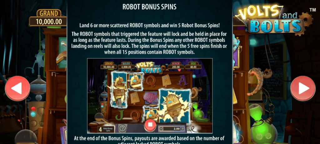 volts and bolts slot rules