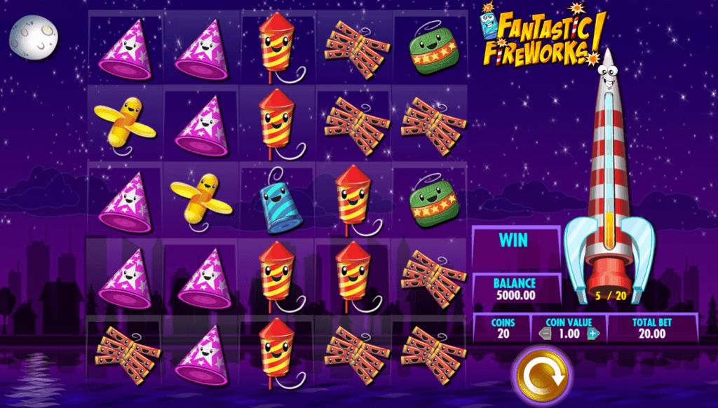 fantastic fireworks slot gameplay