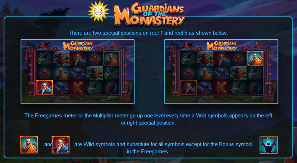 guardians of the monastery slot rules