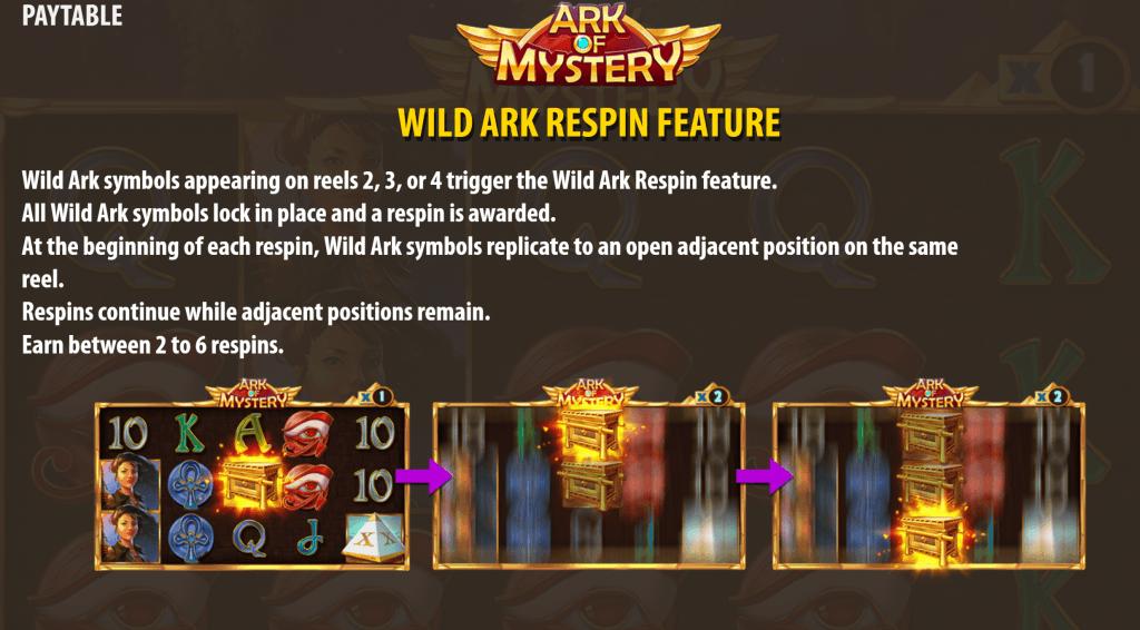 ark of mystery slot rules