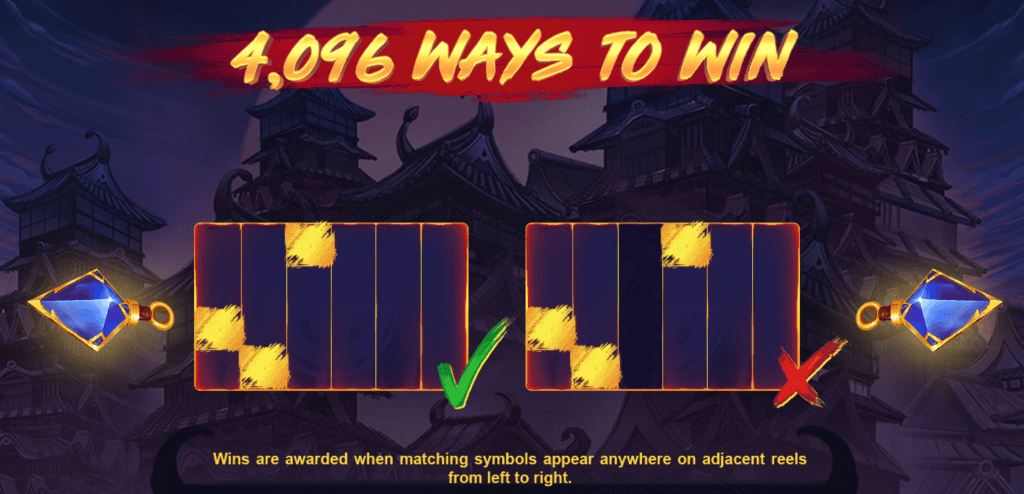 ninja ways slot rules