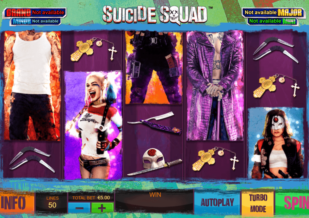 suicide squad slot gameplay