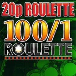 20p Roulette with 100 to 1 Chips