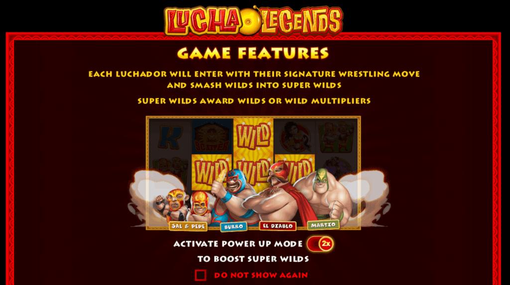 lucha legends slot rules
