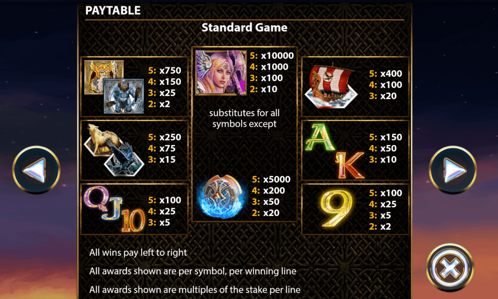 Valkyrie Fire Slot - Stop and Step - Online Casino Reviews, Fixed