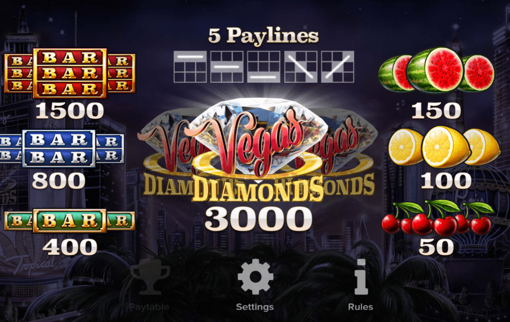 vegas diamonds slot rules