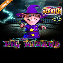 Pig Wizard Scratch Card