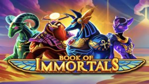 book of immortals slot logo