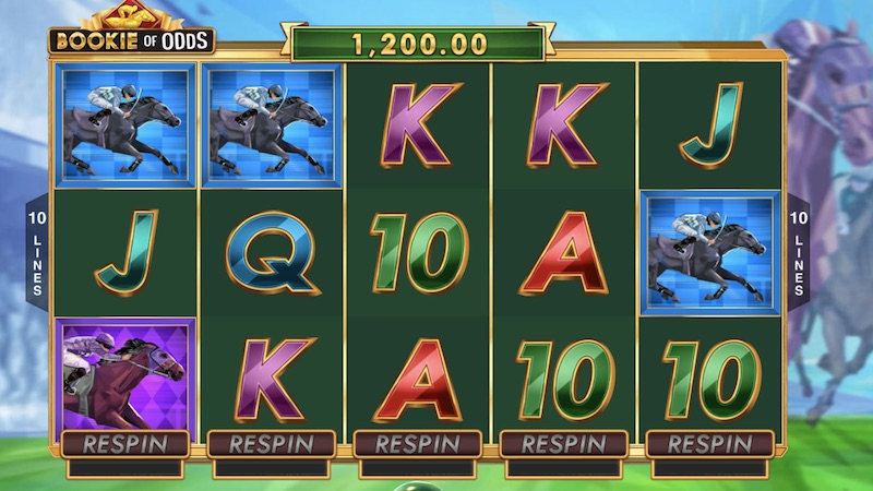 bookie of odds slot gameplay