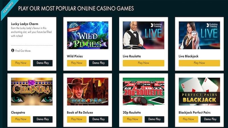 grosvenor casino review games
