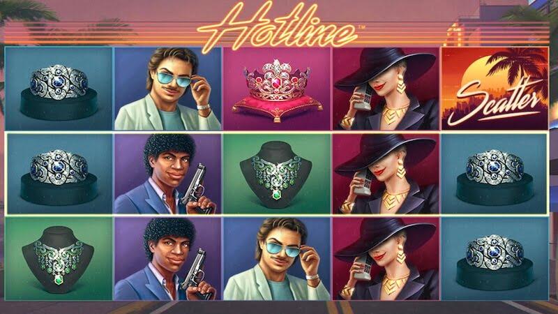 hotline slot gameplay
