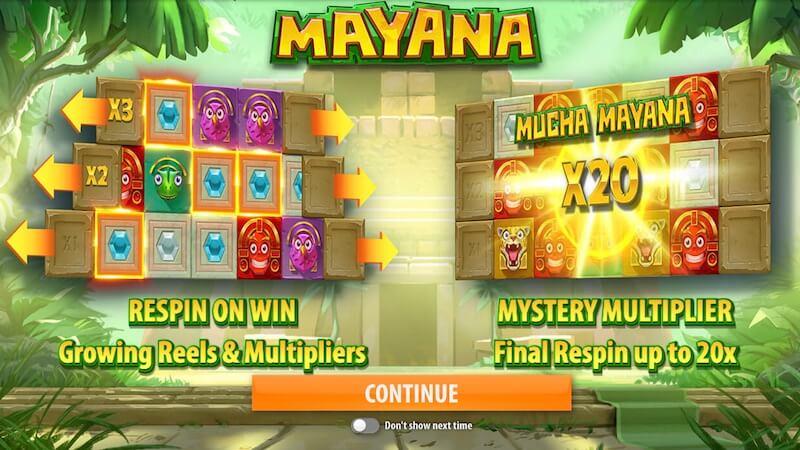 mayana slot rules