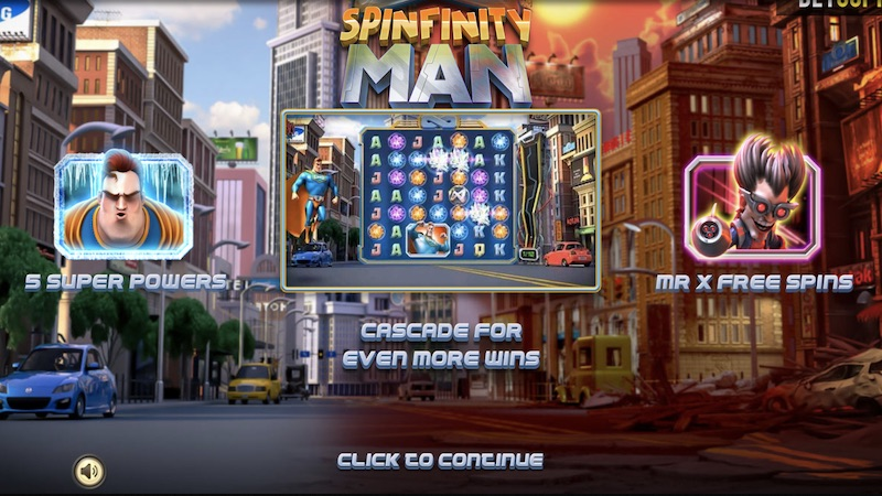spinfinity man slot rules