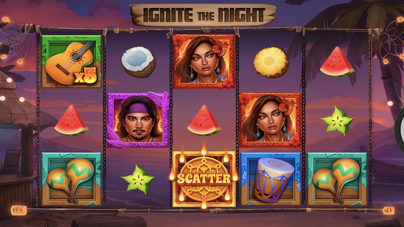 ignite the night slot gameplay