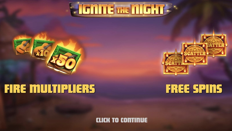 ignite the night slot rules