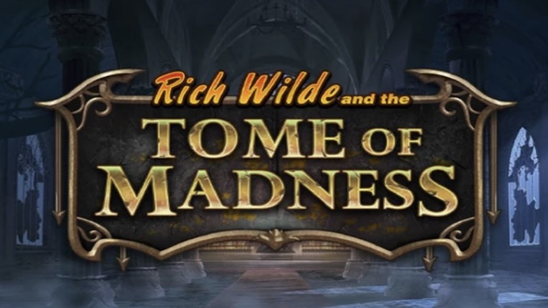 rich wilde tomb of madness slot logo