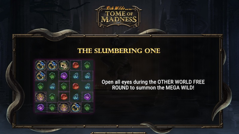 rich wilde tomb of madness slot rules