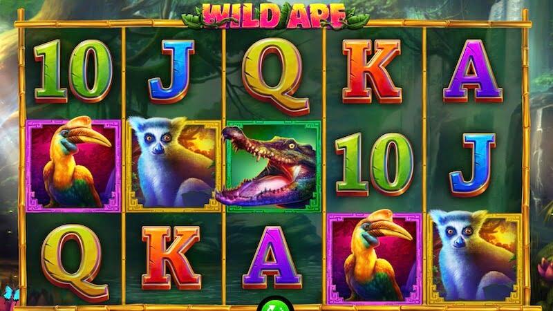 wild ape slot gameplay