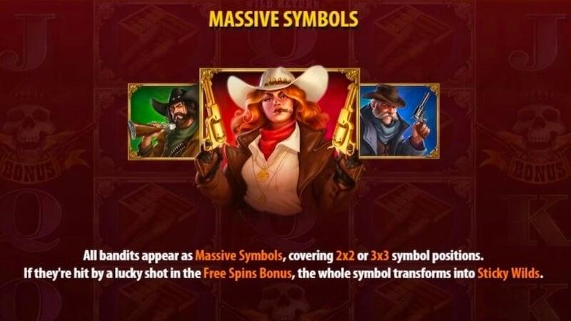 sticky bandits wild return slot rules
