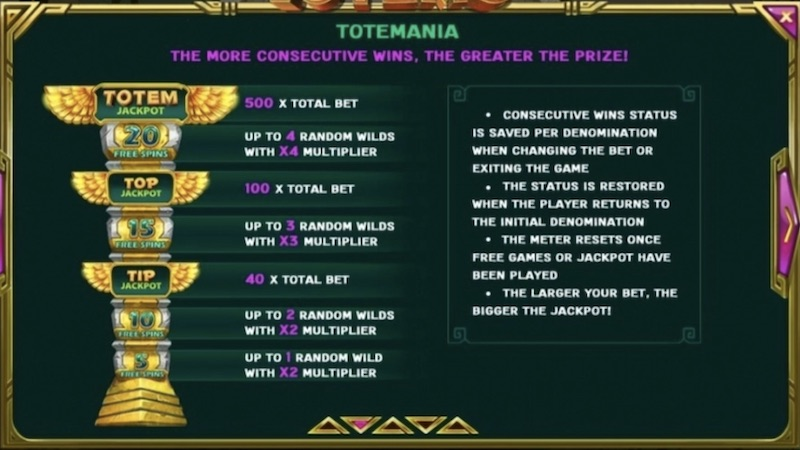 tip top totems slot rules
