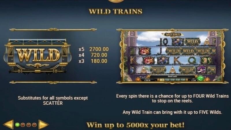 wild rails slot rules