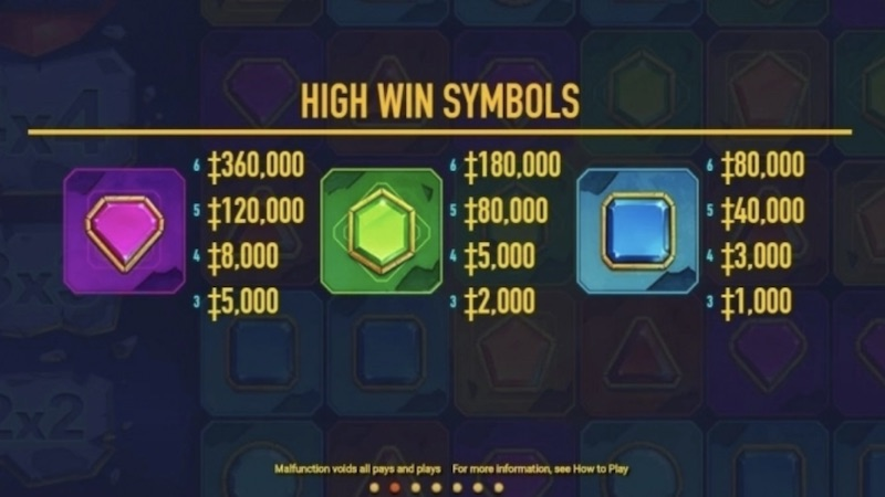 colossal gems slot rules