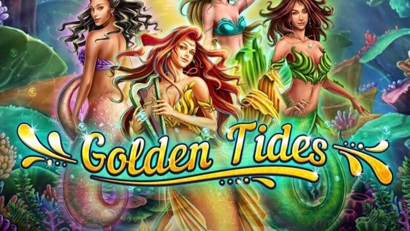 golden tides slot logo