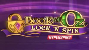 book of oz lock n spin slot logo