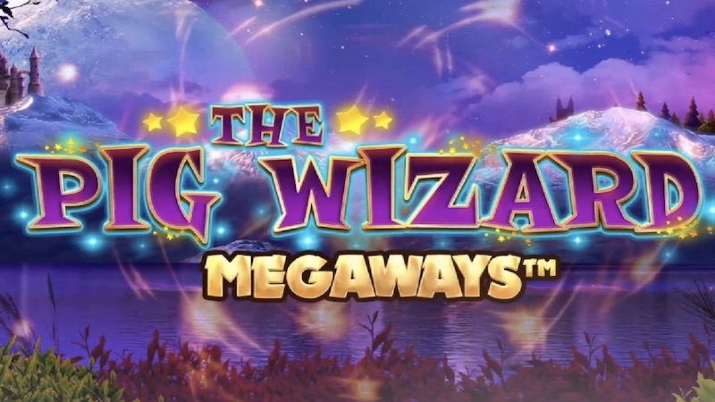 the pig wizard megaways slot logo