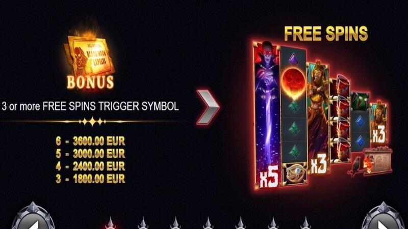 blood moon express slot rules