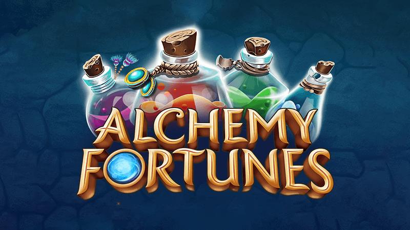 alchemy fortunes slot logo